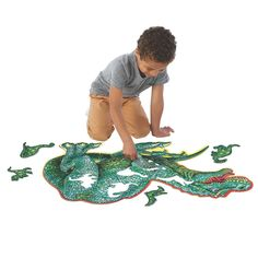 Mindware dinosaur floor puzzle: Even the antsiest, puzzle-averse kiddos will delight in putting this sprawling t-rex together! Made from 51 thick and sturdy pieces, including several that are dino-shaped themselves, the oversize design is great for little ones who struggle with small pieces. Dinosaur Puzzles, Dinosaurs, Floor Puzzle, Puzzle Box, Puzzles For Toddlers, Barnyard Animals, Christmas Books, Christmas Gifts, Woodland Creatures