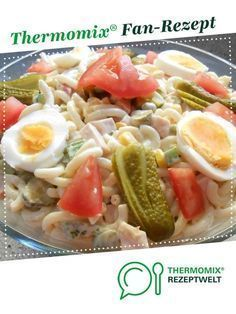 delicious pasta salad from HotTomBBQ. A Thermomix ® recipe from the category appetizers / salads www.de, the Thermomix® Community. Cooking Recipes, Healthy Recipes, Healthy Food, Pasta Salad, Spaghetti, Food Porn, Food And Drink, Chicken, Meat