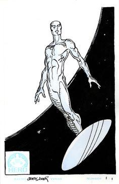 "iandsharman: "" Silver Surfer by CaseyJonesDA "" Marvel Comic Universe, Comics Universe, Marvel Art, Marvel Comics, Ms Marvel, Captain Marvel, Silver Surfer Comic, Punisher Marvel, Universe Art"