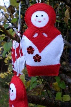 Free Pattern for Felt Babushka Doll Tree Decoration