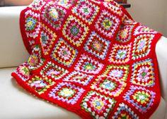 Cath Kidston Inspired Granny Square Blanket!