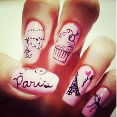 Paris inspired nails!