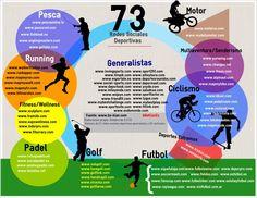 ¿Deportista? aquí tienes 73 redes sociales deportivas #infografía #socialmedia