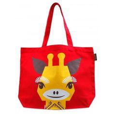 sac de plage en 100% coton bio, illustration girafe par Mibo  canvas shopper bag…