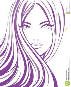 Woman face with floral hairstyle vector - Sök på Google