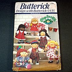Cabbage Patch Kids Doll Clothes Butterick Sewing Pattern 6436 http://www.discoverlakelanier.com