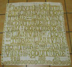 Vintage 70 Tres joli foulard JEANNE LANVIN twill soie silk scarf TBE e099859f067