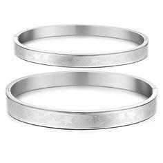 Couple Silver Titanium Steel Bracelet-Gender Women