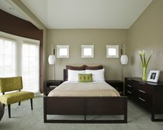 Bedroom Olive Green Walls Design, Pictures, Remodel, Decor And Ideas   Page  6