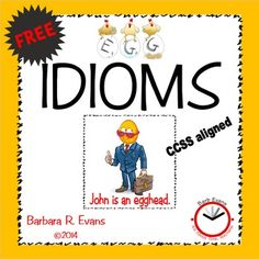 Eggs-actly what you need to teach your students about egg idioms.  And that's no yolk! $