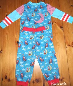 Schlafanzug Stoff&Liebe unser Sandmännchen Applikation Mond sleeping suit applique moon Carla näht