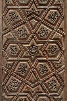 Photo 1166-14: Polygonal pattern on a door in Museum of Islamic ...