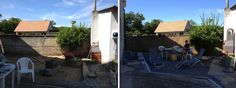 Before and after_garden