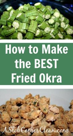 How to Make the Best Fried Okra. The best. How To Freeze Okra, How To Fry Okra, How To Make Okra, Okra Recipes, Cooking Recipes, Diabetic Recipes, Recipies, Vegetable Side Dishes, Vegetable Recipes