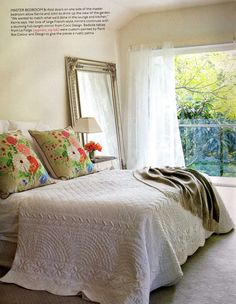 French mirror & beautiful quilt