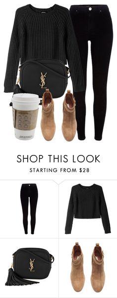 """""""Untitled #5959"""" by laurenmboot ❤ liked on Polyvore featuring River Island, Monki, Yves Saint Laurent and H&M"""