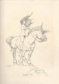 Frazetta - Girl on horse - 1975, in SandeR SandeR's Black_White art Comic Art Gallery Room - 1037120