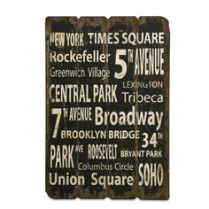 Imax New York Wall Decor