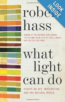What Light Can Do: Essays on Art, Imagination, and the Natural World: Robert Hass: PEN/Diamonstein-Spielvogel Award for the Art of the Essay ($10,000): For a book of essays published in 2012 that exemplifies the dignity and esteem that the essay form imparts to literature. Runners-up: The Story of America: Essays on Origins (Princeton University Press), Jill Lepore Waiting for the Barbarians (New York Review Books), Daniel Mendelsohn