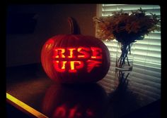 Atlanta Falcons pumpkin Falcons Rise Up, Fall Crafts, Arts And Crafts, Falcons Football, Atlanta Falcons, Pumpkin Carving, Halloween, Holiday Ideas, Nfl