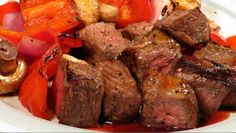 Bourbon Glazed Beef Kabobs | This is a flavorful way to make beef kabobs. Tasty meat with fresh vegetables on the grill, need I say more? It's all about building the flavor profile, use any glaze you like; I'm sure your going to like this flavorful dinner.