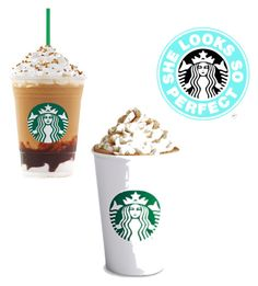 """""""Starbucks is awesome and it's bae"""" by imperfectioni ❤ liked on Polyvore"""