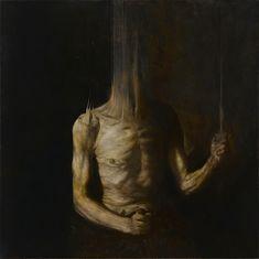 The dark and beautiful paintings of Nicolas Samori Arte Horror, Horror Art, Creepy Paintings, Creepy Art, Dark Paintings, Art Macabre, Danse Macabre, Art Sinistre, Art Sketches