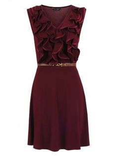 Love this maroon dress!