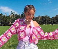 Latest Crochet Blouse & Top Pattern Ideas - Crop Shirts & Top Designs Ideas 2021 Retro Outfits, Mode Outfits, Trendy Outfits, Fashion Outfits, Fashion Women, Summer Outfits, Crochet Blouse, Knit Crochet, Diy Blouse