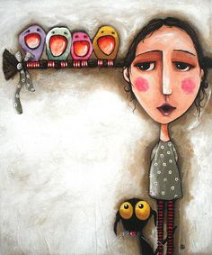 Me and my birds. Lucia Stewart