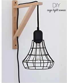 @Anu Ubhi Ubhi (Nalle's House) used the EKBY VALTER bracket to artfully hang this cage light.
