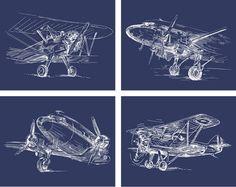 sketch airplane free printables