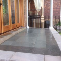 Blue Quartz Inlay with Grey Quartz Banding locked in with Limestone Coping Landscape Materials, Landscape Design, Bluestone Pavers, Step Treads, Sandstone Wall, Natural Stone Veneer, Green Initiatives, Landscape Maintenance, Construction Services