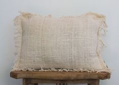 This handmade open weave cushion gives a raw beauty which is rarely found. Handwoven in unprocessed cotton, this cushions soft touch adds variable