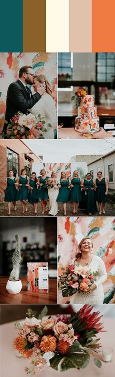 Five Stylish Fall Wedding Color Palettes Wedding Blog, Wedding Styles, Wedding Decor, Dream Wedding, Wedding Ideas, Orange Wedding Colors, Fall Wedding Colors, Theia Bridal, Fall Bridesmaid Dresses