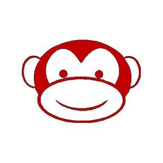 veloursmotief aapje | dieren/ insecten | full color strijkapplicaties en zo