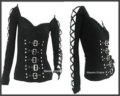 Gothic Punk Black Corset Top