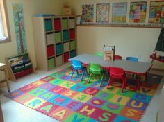 Home Daycare Design Ideas - Home Daycare Setup Ideas Home Daycare Rooms, Daycare Spaces, Childcare Rooms, Preschool Rooms, Preschool At Home, Preschool Classroom, Preschool Room Layout, Toddler Daycare Rooms, Toddler Class