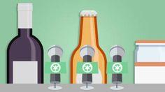 Una botella de vino un potito y un botellín de cerveza cuentan sus infinitas vidas