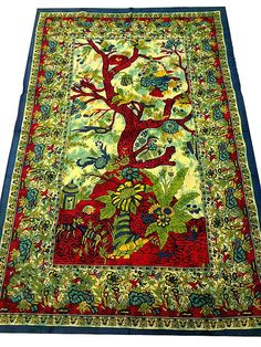 Tree Of Life Tapestry Indian Tapestry Bohemian by BeingGypsy