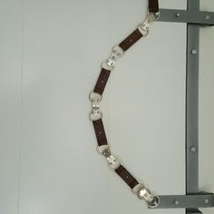 Michael Kors Chunky Brown Leather & Metal Belt Heavy and GORGEOUS Michael Kors Accessories Belts