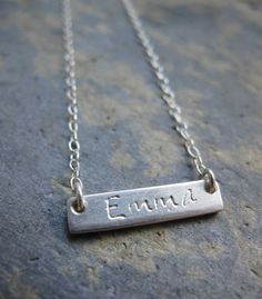 Personalised sterling silver name pendant - bespoke jewellery design - handmade necklace