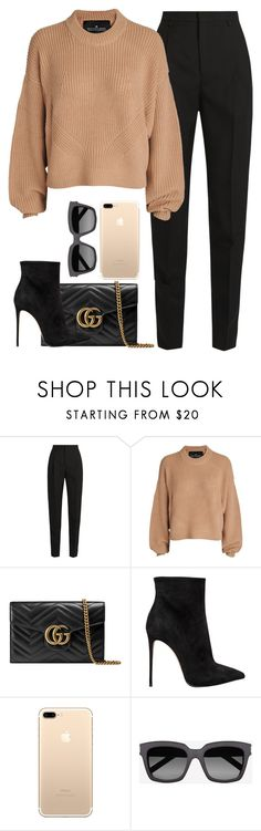 """Untitled #979"" by khalesse ❤ liked on Polyvore featuring Yves Saint Laurent, Designers Remix, Gucci and Le Silla"