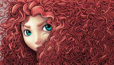linda imagen de Merida de Disney