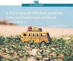 """Il n'y a pas de wifi dans la nature, mais on y trouve une meilleure connexion."" Camping Car, Nature, Inspiration, Camping Heater, Connection, Wayfarer, Biblical Inspiration, Naturaleza, Nature Illustration"