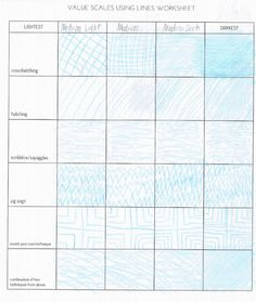 Value scale worksheet for kids. Free printable.
