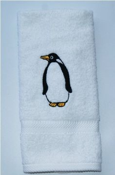 Kitchen Bath Home Hand Towel Embroidered Penguin NEW by Terry Town, http://www.amazon.com/dp/B004B4114U/ref=cm_sw_r_pi_dp_zCTPpb0HWFW6S