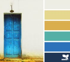 Love this palette the gold tone is a great contrast with the blues Colour Pallette, Color Palate, Colour Schemes, Color Combos, Pantone Azul, Palette Design, Logo Design, Color Harmony, Design Seeds