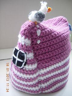 Crochet Beach Hut Tea Cosy