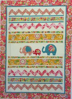 Start here for some information on how to join the fun! Elephant Quilt, Row By Row, Baby Quilts, Robin, Baby Kids, Quilting, Kids Rugs, Blanket, Fun